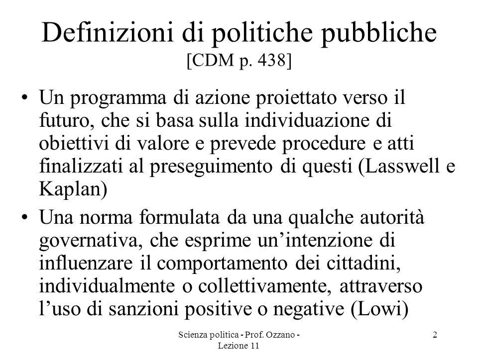 Definizioni di politiche pubbliche [CDM p. 438]